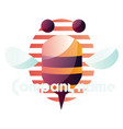 simple bee logo on a white background vector image vector image