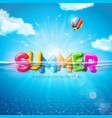 summer with colorful 3d vector image
