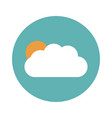 sun and cloud weather flat vector image