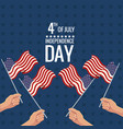 united states independence day celebration vector image vector image