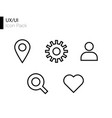 ux ui line icon pack vector image