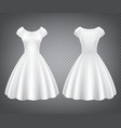 white retro woman dress for wedding or party vector image