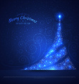 Xmas tree glowing background vector image vector image