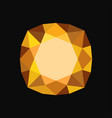 yellow precious stone gemstone vector image