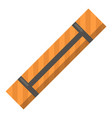 yoga mat icon flat style vector image
