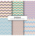 zigzag seamless patterns vector image vector image