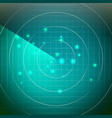 futuristic radar territory with smooth vector image