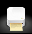 Icon for printer vector image