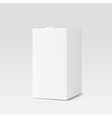 Realistic cardboard box on white background vector image