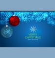 background christmas balls vector image