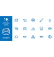 15 bakery icons vector image vector image