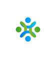 abstract logo stylized people human help vector image vector image