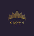 abstract luxury royal golden company logo icon vector image
