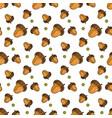 autumn seamless pattern background oak acorns vector image