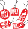 Best deal red tag set vector image vector image