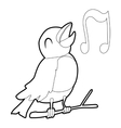 Bird singing icon isometric 3d style vector image