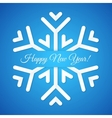Blue Paper Snowflake Postcard vector image vector image