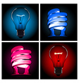 bulb lamp set vector image vector image
