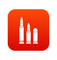 bullets icon digital red vector image vector image