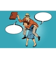 Business people man riding on woman Gender vector image vector image