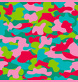 camouflage seamless pattern in a pink blue red vector image vector image