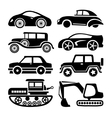 car icon black transport set vector image