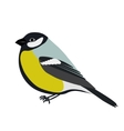 Cartoon titmouse vector image vector image