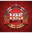 Celebrative Golden Frame for 105th Anniversary vector image vector image