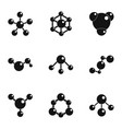 chemical connection icons set simple style vector image vector image