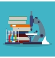 Colorful Books and science design vector image vector image