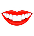 colorful cartoon healthy smile vector image