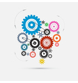 Colorful Cogs - Gears vector image