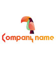 colorful parot and blank text simple logo on a vector image vector image