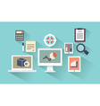 concept mobile devices and documents vector image