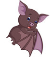 cute bat cartoon vector image vector image