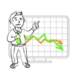 Emotions of a SIM trader vector image