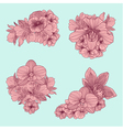 et of vintage flowers compositions vector image vector image