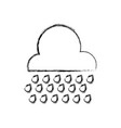 figure cloud raining and natural weather in the vector image vector image