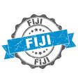 fiji round ribbon seal vector image vector image