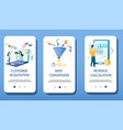 finance management mobile app onboarding screens vector image vector image