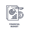 financial budget line icon concept financial vector image vector image