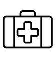 first aid kit line icon medical case vector image vector image