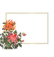 floral frame template with chrysanthemum flowers vector image