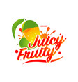 fresh mango juicy fruity sign symbol logo icon vector image