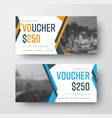 gift voucher template with abstract colored lines vector image