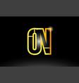 gold black alphabet letter on o n logo vector image vector image