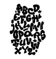 graffiti hand lettering alphabet font vector image vector image