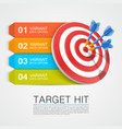 graphic information target with darts vector image vector image