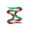 green and red ribbon vector image vector image