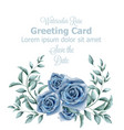 greeting card with blue roses watercolor vector image vector image